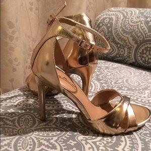 Gold sandal heels